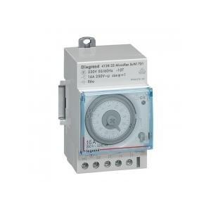 Interrupteur horaire analogique modulaire programmable automatique journalier - 1 sortie 16A 250V~ - 3 modules LEGRAND
