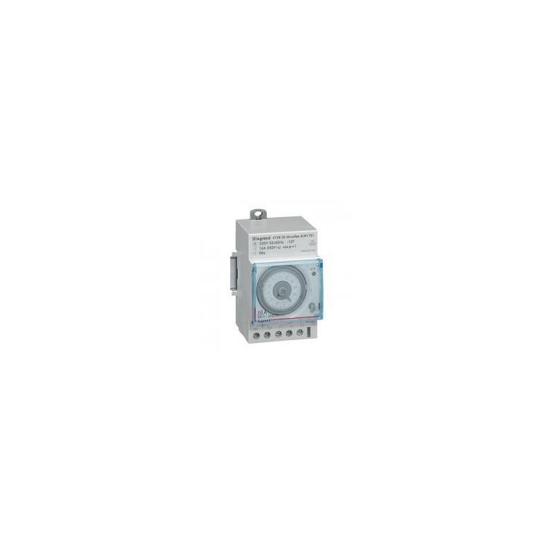 Interrupteur horaire programmable automatique journalier - 1 sortie 16A 250V~ - 3 modules LEGRAND