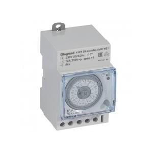 Interrupteur horaire analogique modulaire programmable automatique hebdomadaire - 1 sortie 16A 250V~ - 3 modules LEGRAND