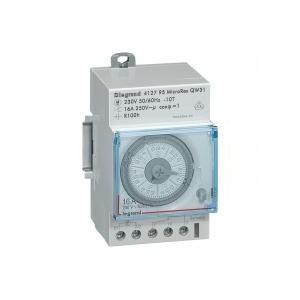 Interrupteur horaire analogique modulaire programmable manuel hebdomadaire - cadran vertical avec réserve de marche LEGRAND