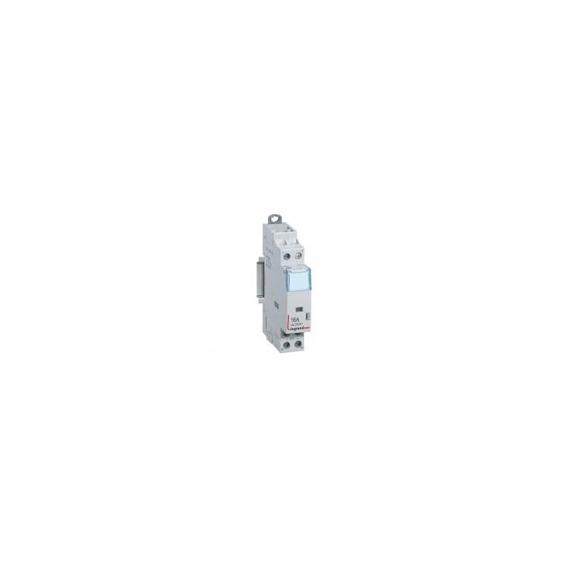 Contacteur de puissance CX³ bobine 24V~ sans commande manuelle - 2P 250V~ 16A - contact O+F - 1 module LEGRAND