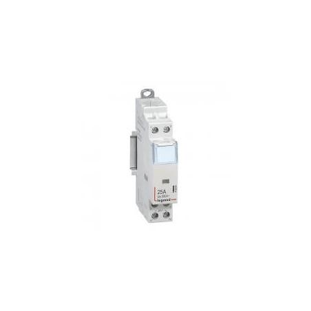 Contacteur de puissance CX³ bobine 24V~ sans commande manuelle - 2P 250V~ - 25A - contact 2F - 1 module LEGRAND