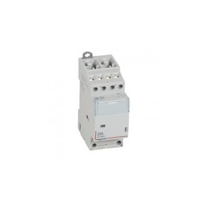 Contacteur de puissance CX³ bobine 24V~ sans commande manuelle - 4P 400V~ - 25A - contact 4F - 2 modules LEGRAND