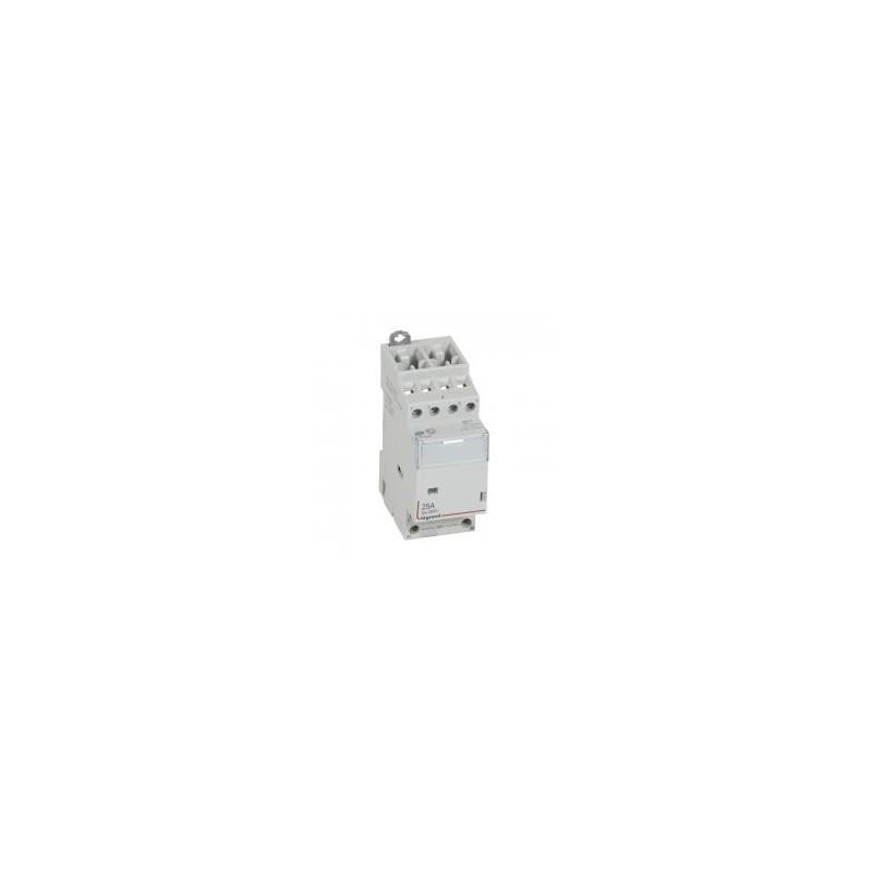 Contacteur de puissance CX³ bobine 24V~ sans commande manuelle - 4P 400V~ - 25A - contact 2O+2F - 2 modules LEGRAND