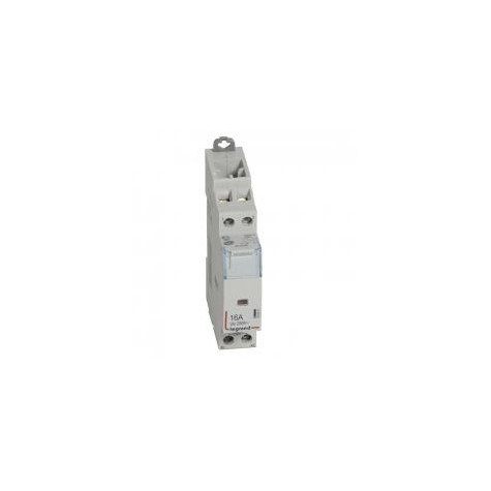 Contacteur de puissance CX³ bobine 230V~ sans commande manuelle - 2P 250V~ - 16A - contact O+F - 1 module LEGRAND