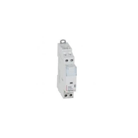 Contacteur de puissance CX³ bobine 230V~ sans commande manuelle - 2P 250V~ - 25A - contact 2F - 1 module LEGRAND