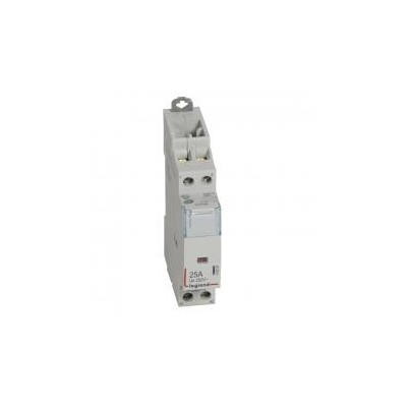 Contacteur de puissance CX³ bobine 230V~ sans commande manuelle - 2P 250V~ - 25A - contact 2O - 1 module LEGRAND