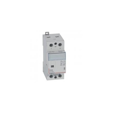 Contacteur de puissance CX³ bobine 230V~ sans commande manuelle - 2P 250V~ - 63A - contact 2F - 2 modules LEGRAND