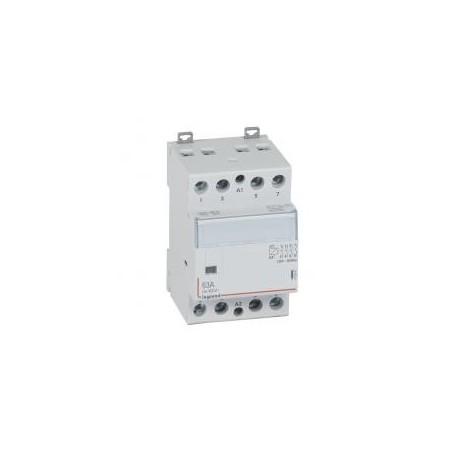 Contacteur de puissance CX³ bobine 230V~ sans commande manuelle - 4P 400V~ - 63A - contact 4F - 3 modules LEGRAND