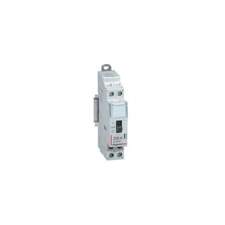 Contacteur domestique CX³ silencieux bobine 230V~ - 2P 250V~ - 25A - contact O+F - 1 module LEGRAND