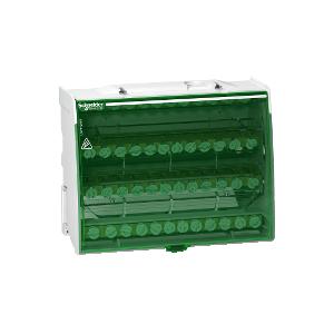Répartiteur étagé tétrapolaire 125A - 4x12 trous - Linergy DS SCHNEIDER