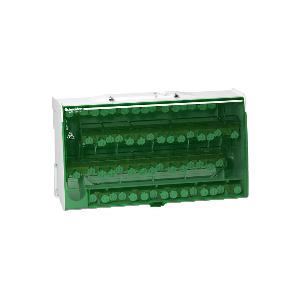 Répartiteur étagé tétrapolaire - 125A - 4x15 trous - Linergy DS SCHNEIDER