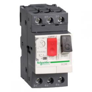 Disjoncteur moteur 0,4 à 0,63A 3P 3d - déclencheur magnétothermique - TeSys GV2ME SCHNEIDER