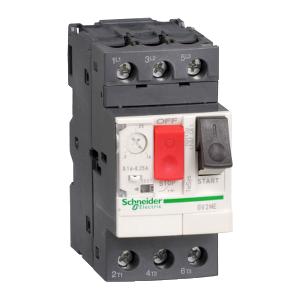 Disjoncteur moteur TeSys GV2ME - 0,4 à 0,63A 3P 3d - déclencheur magnétothermique SCHNEIDER