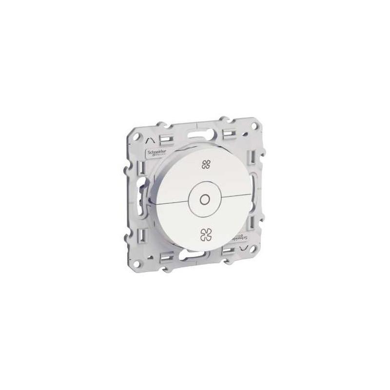 Interrupteur VMC blanc avec position arrêt vis ODACE SCHNEIDER
