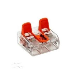 Mini borne WAGO pour 3 conducteurs, 4mm², avec levier de manipulation (Boite de 50 pièces) WAGO
