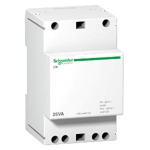Transformateur de sonnerie et ronfleur - 25VA - 230Vca/12-24Vca - Acti9 iTR SCHNEIDER