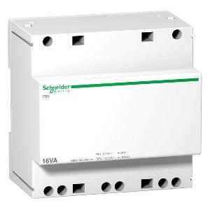 Transformateur de sécurité - 16VA - 230Vca/12-24Vca - Acti9 iTR SCHNEIDER