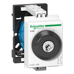 Commutateur rotatif 2 directions à clé 10A 2P 415VCA verrouillage 1P - Acti9, iCMC SCHNEIDER