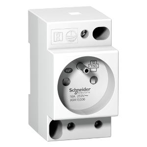 Prise de courant modulaire 16A 2P+T avec voyant standard français 250V SCHNEIDER