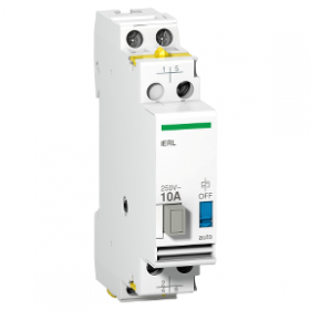 Extension pour relais inverseur iRLI 24VCA 10A 1F + 1O/F - Acti9, iERL SCHNEIDER