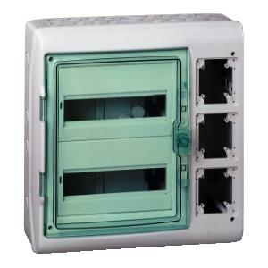 Kaedra - coffret polyvalent - 448 x 460 mm - 24 modules - 3 ouvertures SCHNEIDER