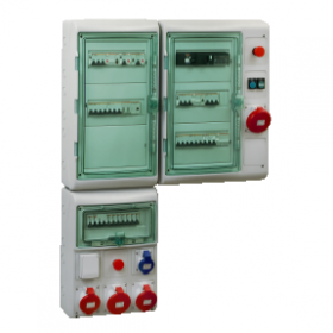 Kaedra - coffret polyvalent - 448 x 610 mm - 36 modules - 4 ouvertures SCHNEIDER
