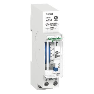 Interrupteur horaire électromécanique - 7J - 1 canal - réserve de marche 100h - Acti9 IHH SCHNEIDER