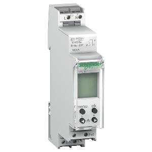 Interrupteur horaire compact - 1 canal 24h/7j réserve marche 84 commutations - Acti9 IHP+ SCHNEIDER