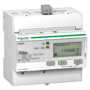 Compteur d'énergie triphasé - TI - multi tarif - alarme kW - Modbus - MID - Acti9 iEM SCHNEIDER