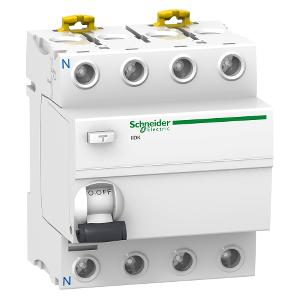 Interrupteur différentiel PdC - 4,5kA 4P 40A type AC 30mA - Acti9 iID K SCHNEIDER