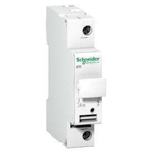 Sectionneur fusible à tiroir - 1P - 25A - pour fusible 10.3x38mm - Acti9 STI - SCHNEIDER