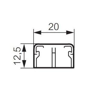 Moulure DLPlus 20x12,5mm - 2 compartiments - longueur 2,1m - blanc LEGRAND