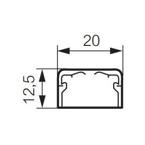 Moulure DLPlus 20x12,5mm - 1 compartiment - longueur 2,1m - blanc LEGRAND