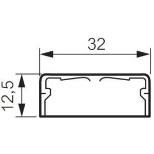Moulure DLPlus 32x12,5mm 1 compartiment longueur 2,1m - blanc LEGRAND