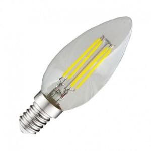 Ampoule LED E14 COB filament flamme 4W 4000°K VISION EL