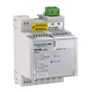 Relais différentiel 12-24VAC/12-48VCC sensibilité 0,03A - instantané - Vigirex RH10M SCHNEIDER