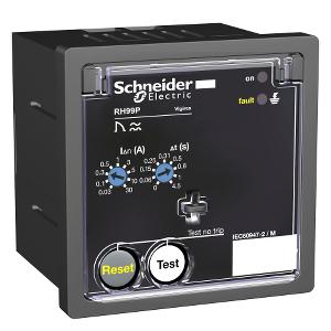 Relais différentiel 12-24VAC/12 -48VCC sensibilité 0,03A-30A réarm. manuel - Vigirex RH99P SCHNEIDER