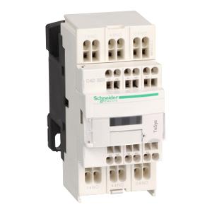 Contacteur - 3F+2O - instantané - 10A - 24Vcc (basse conso.) - TeSys CAD323BL SCHNEIDER