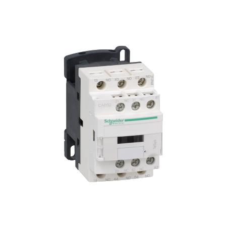 Contacteur - 3F+2O - instantané - 10A - 24Vcc - TeSys CAD32BD SCHNEIDER