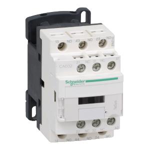 Contacteur - 3F+2O - instantané - 10A - 24Vcc - TeSys CAD32BL SCHNEIDER