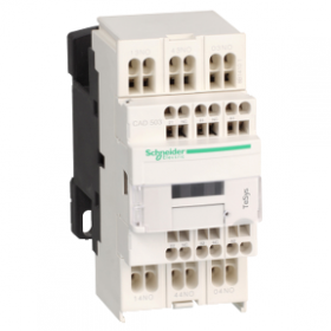 Contacteur - 5F+0O - instantané - 10A - 24Vcc (basse conso.) - TeSys CAD503BL SCHNEIDER