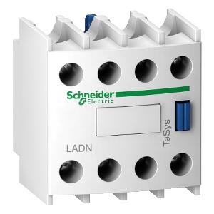 Bloc de contacts auxiliaires - 4F+0O - bornes à vis-étriers - TeSys D - LADN40 SCHNEIDER