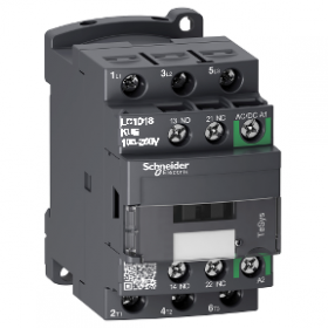 Contacteur - 3P(3 NO) - AC3 - 440V 18A - 100 à 250Vca-cc - TeSys LC1D18KUE SCHNEIDER