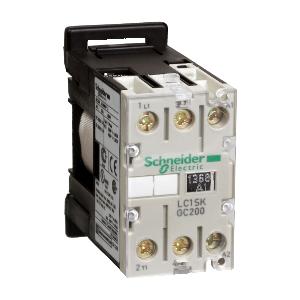 Contacteur - 2P - AC-3 400V 5A - bobine 24Vca - TeSys LC1SKGC200B7 SCHNEIDER