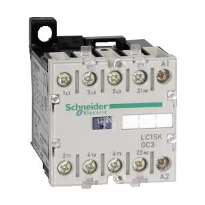 Contacteur - 3P - AC-3 400V 9A - bobine 24Vca - TeSys LC1SKGC301P7 SCHNEIDER