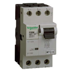 P25M - Disjoncteur moteur - 0,16A - 3P 3d - déclencheur magnéto-thermique SCHNEIDER