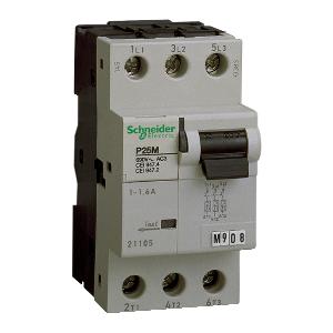 P25M - Disjoncteur moteur - 1,6A - 3P 3d - déclencheur magnéto-thermique SCHNEIDER