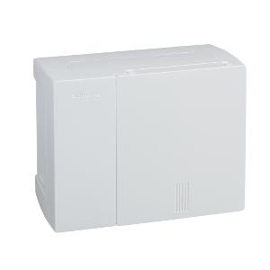 Mini coffret PRAGMA - 1x6 mod. - portillon opaque blanc - born. terre SCHNEIDER