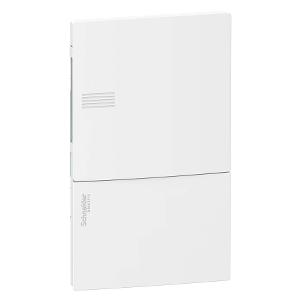 Mini coffret PRAGMA - 1x8 mod. - portillon opaque blanc - born. terre SCHNEIDER